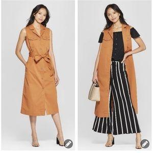 Who What Wear Sleeveless safari dress #3794
